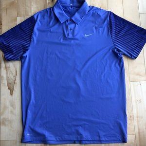 Nike Tiger Woods Dri Fit Golf Shirt size Large